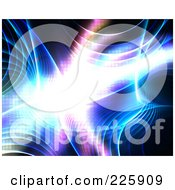 Royalty Free RF Clipart Illustration Of A Bright Fractal And Plasma On Black