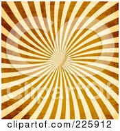 Royalty Free RF Clipart Illustration Of A Grungy Brown And Beige Ray Vortex Background