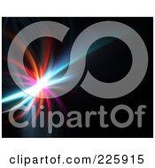 Royalty Free RF Clipart Illustration Of A Swooshy Colorful Fractal Burst On Black