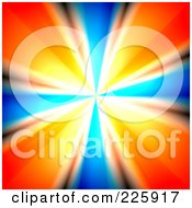 Royalty Free RF Clipart Illustration Of A Bright Vortex With Blue And Orange