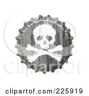 Royalty Free RF Clipart Illustration Of A 3d Bottle Cap With A Skull And Crossbones by Arena Creative