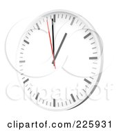 Royalty Free RF Clipart Illustration Of A 3d Wall Clock
