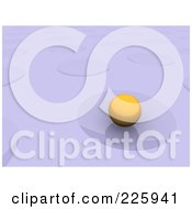Royalty Free RF Clipart Illustration Of A 3d Yellow Orb In A Crater On Purple