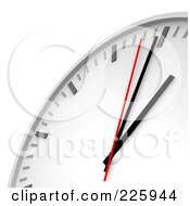 Royalty Free RF Clipart Illustration Of A 3d Wall Clock Closeup