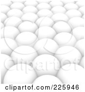 Royalty Free RF Clipart Illustration Of A 3d Background Of White Spheres