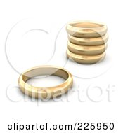 Royalty Free RF Clipart Illustration Of 3d Gold Wedding Bands by Jiri Moucka