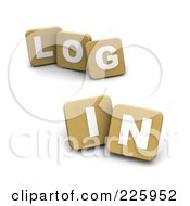 3d Tan Blocks Spelling LOG IN