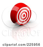 Royalty Free RF Clipart Illustration Of A 3d Bullseye Slightly Facing Right by Jiri Moucka