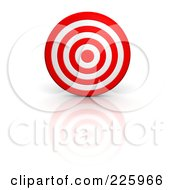 Royalty Free RF Clipart Illustration Of A 3d Bullseye by Jiri Moucka