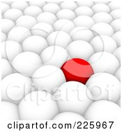 Royalty Free RF Clipart Illustration Of A 3d Red Ball Surrounded By White Balls