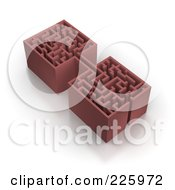 Royalty Free RF Clipart Illustration Of A 3d Box Maze 3 by Jiri Moucka