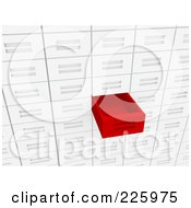 Royalty Free RF Clipart Illustration Of A 3d Red Drawer Pulled Out From A Wall Of Drawers