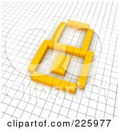 3d Padlock Icon Made Of Yellow Pixels On A Grid by Jiri Moucka