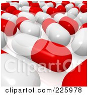 3d Red And White Pill Background