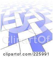 3d Abstract Background Of White And Blue Blocks