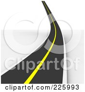 Royalty Free RF Clipart Illustration Of A 3d Roadway Curving Up Into The Distance by Jiri Moucka