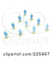 Royalty Free RF Clipart Illustration Of A 3d Blue People Network