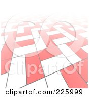 Royalty Free RF Clipart Illustration Of A 3d Abstract Background Of White And Red Blocks