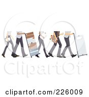 Royalty Free RF Clipart Illustration Of Feet Of Courier And Delivery Workers