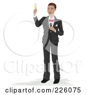 Royalty Free RF Clipart Illustration Of A Man Making A Wedding Toast