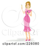 Royalty Free RF Clipart Illustration Of A Woman Making A Wedding Toast