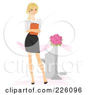 Royalty Free RF Clipart Illustration Of A Wedding Planner Standing With A Clipboard