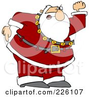 Royalty Free RF Clipart Illustration Of A Santa Angrily Waving His Fist
