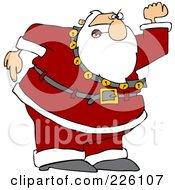 Santa Angrily Waving His Fist