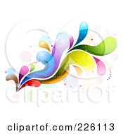 Royalty Free RF Clipart Illustration Of An Abstract Colorful Wave Background 2 by BNP Design Studio