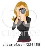 Royalty Free RF Clipart Illustration Of A Beautiful Woman Taking Photographs