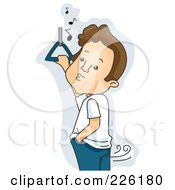 Royalty Free RF Clipart Illustration Of A Man Whistling While Farting On A Bus