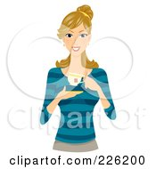 Royalty Free RF Clipart Illustration Of A Beautiful Woman Holding A Cup Of Tea by BNP Design Studio