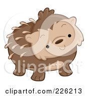 Royalty Free RF Clipart Illustration Of A Cute Curious Hedgehog by BNP Design Studio