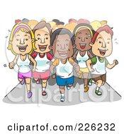Group Of Marathon Runners