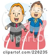 Royalty Free RF Clipart Illustration Of Businessmen Racing For An Opportunity