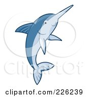 Royalty Free RF Clipart Illustration Of A Cute Blue Swordfish