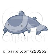 Royalty Free RF Clipart Illustration Of A Cute Gray Catfish