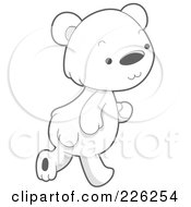 Royalty Free RF Clipart Illustration Of A Cute Baby Polar Bear Walking by BNP Design Studio
