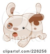 Royalty Free RF Clipart Illustration Of A Cute Puppy Dog Running Scared