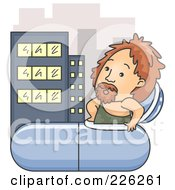 Royalty Free RF Clipart Illustration Of A Caveman Emerging From A Time Capsule