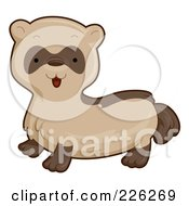 Royalty Free RF Clipart Illustration Of A Cute Brown Ferret