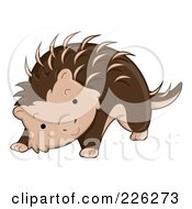 Royalty Free RF Clipart Illustration Of A Cute Porcupine
