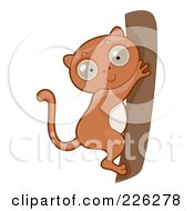 Royalty Free RF Clipart Illustration Of A Cute Tarsier On A Tree