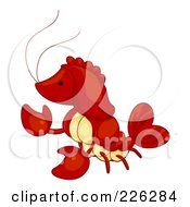 Royalty Free RF Clipart Illustration Of A Cute Red Lobster