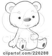 Royalty Free RF Clipart Illustration Of A Cute Baby Polar Bear Rubbing His Belly by BNP Design Studio