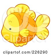 Royalty Free RF Clipart Illustration Of A Cute Goldfisg In Profile