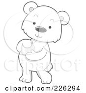 Royalty Free RF Clipart Illustration Of A Cute Baby Polar Bear Holding A Glass Ball by BNP Design Studio