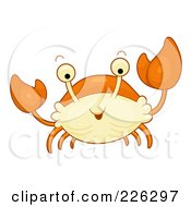 Royalty Free RF Clipart Illustration Of A Cute Orange Crab by BNP Design Studio
