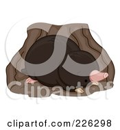 Royalty Free RF Clipart Illustration Of A Cute Mole In A Den