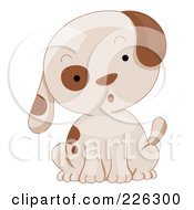 Royalty Free RF Clipart Illustration Of A Cute Puppy Dog Sitting Surprised